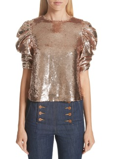 Ulla Johnson Raw Sequin Blouse