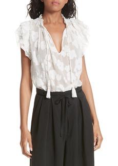 Ulla Johnson Reine Silk & Cotton Jacquard Blouse