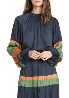 Ulla Johnson Rosa Stripe Sleeve Blouse