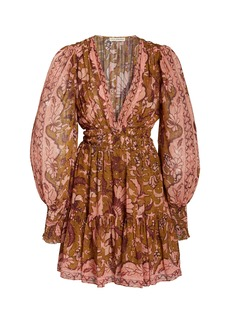 Ulla Johnson Rosetta Printed Silk-Blend Dress