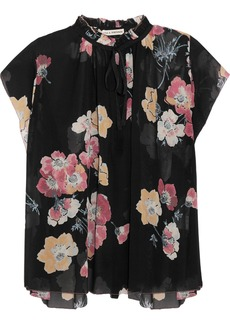 Ulla Johnson Saadi floral-print silk-georgette blouse