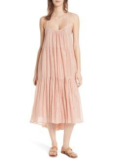 Ulla Johnson Samara Metallic Stripe Dress