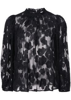 Ulla Johnson Sandrine floral blouse - Black