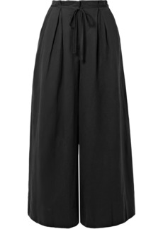 Ulla Johnson Sylvie Pleated Tencel, Linen And Cotton-blend Twill Culottes