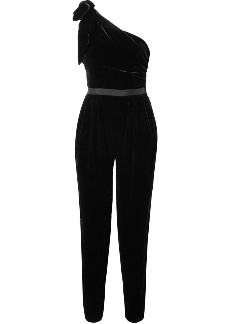 0f2be626df Ulla Johnson Tess one-shoulder velvet jumpsuit