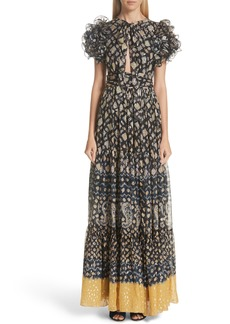 Ulla Johnson Umbra Silk Blend Maxi Dress