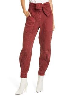 Ulla Johnson Wade Tie Waist Tapered Jeans