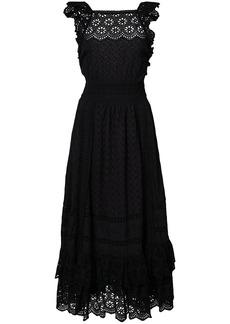 Ulla Johnson Willow ruffled eyelet dress - Black