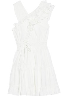 Ulla Johnson Woman Iliana Wrap-effect Ruffled Cotton-poplin Mini Dress White