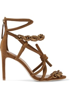 Ulla Johnson Woman Sidra Chain-embellished Knotted Suede Sandals Light Brown