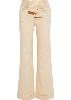 Ulla Johnson Woman Wade Belted High-rise Flared Jeans Cream
