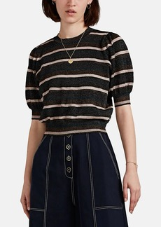 Ulla Johnson Women's Albi Metallic Striped Crop Top