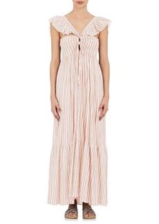 Ulla Johnson Women's Arian Striped Cotton Reversible Maxi Dress