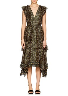 Ulla Johnson Women's Aurelie Floral Silk Midi-Dress