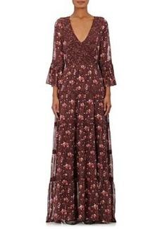 Ulla Johnson Women's Aurora Silk Georgette Maxi Dress