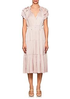 Ulla Johnson Women's Balire Plissé Satin Midi-Dress