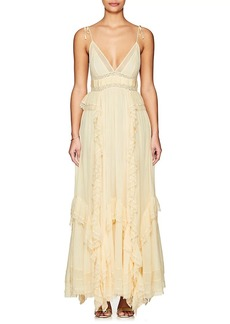 Ulla Johnson Women's Bardot Embellished Gauze Gown