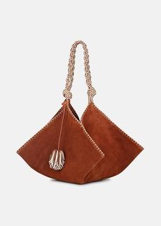 Ulla Johnson Women's Behati Origami Suede Shoulder Bag - Brown