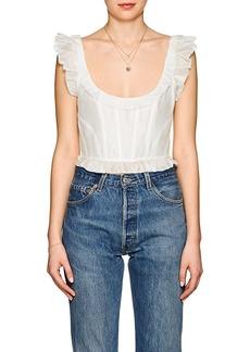 Ulla Johnson Women's Bijou Cotton-Silk Crop Top