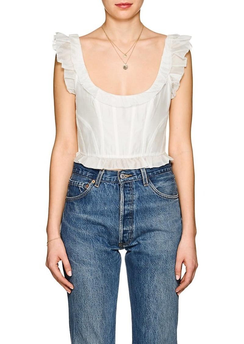 ebf4d41ed15d46 Ulla Johnson Ulla Johnson Women s Bijou Cotton-Silk Crop Top