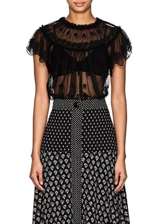 Ulla Johnson Women's Bisou Embroidered Tulle Top