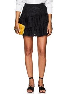 Ulla Johnson Women's Bristol Dotted Tulle Miniskirt