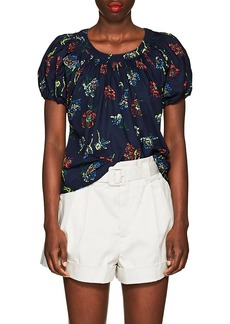 Ulla Johnson Women's Celie Floral Cotton Poplin Top