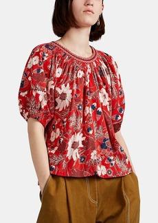 Ulla Johnson Women's Celie Floral Cotton-Blend Top