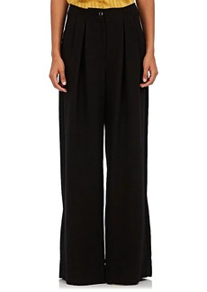 Ulla Johnson Women's Ceri Faille Wide-Leg Trousers