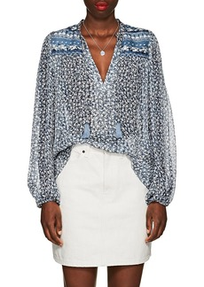 Ulla Johnson Women's Constance Floral Silk Chiffon Peasant Blouse