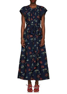 Ulla Johnson Women's Coralie Floral Cotton Poplin Wide-Leg Jumpsuit