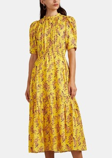 Ulla Johnson Women's Corrine Floral Silk Dress