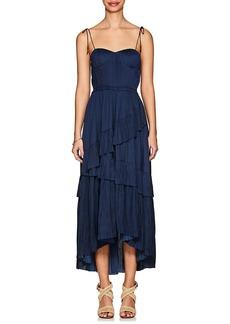 Ulla Johnson Women's Deliliah Plissé Satin Midi-Dress