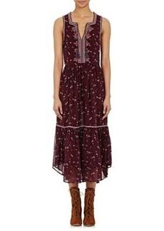 Ulla Johnson Women's Embroidered Chiffon Leena Midi-Dress