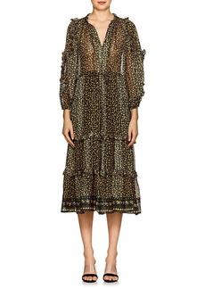 Ulla Johnson Women's Fantine Floral Silk Tiered Dress