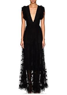 Ulla Johnson Women's Fifi Embroidered Tulle Maxi Dress