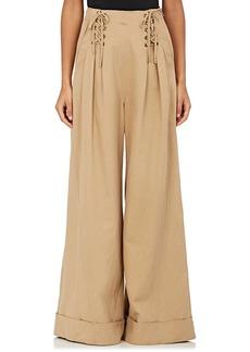 Ulla Johnson Women's Gaucho Wide-Leg Twill Trousers