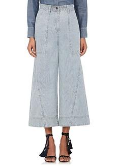 Ulla Johnson Women's Giada Striped Wide-Leg Denim Trousers
