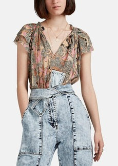 Ulla Johnson Women's Ida Floral Plissé Top