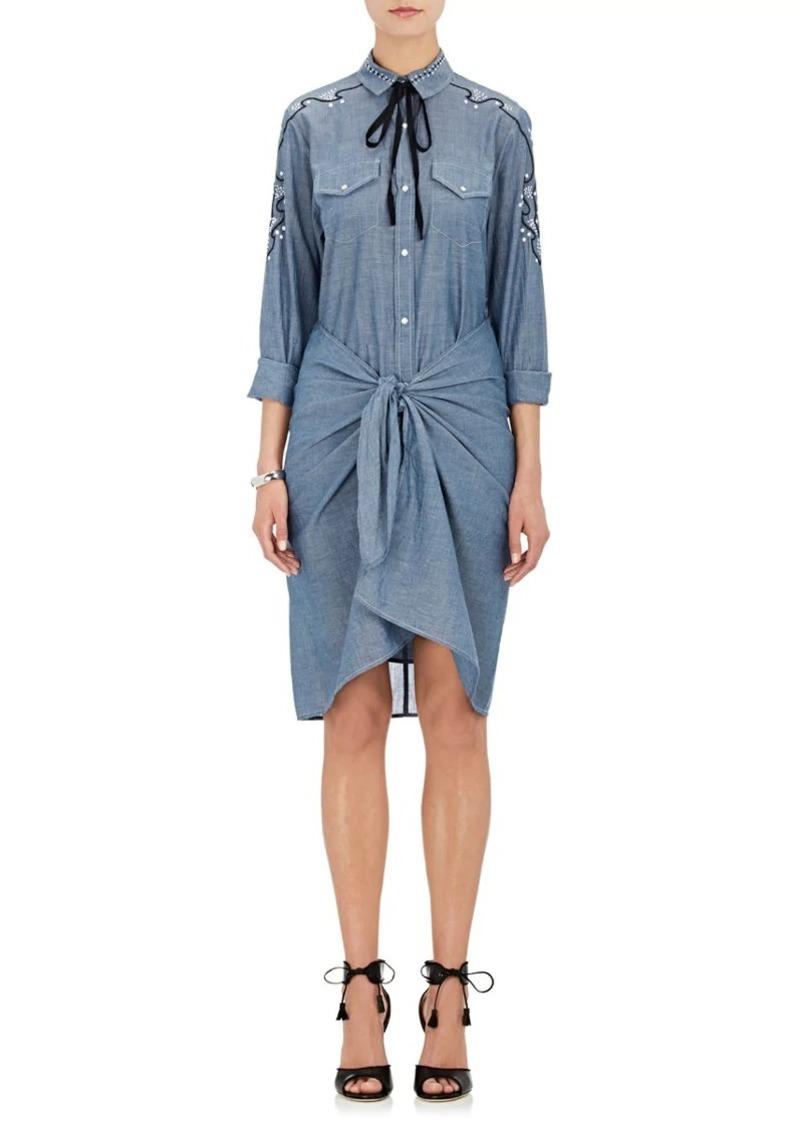 Ulla Johnson Women's Jane Embroidered Cotton Wrap Dress