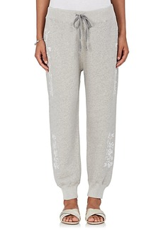 Ulla Johnson Women's Janine Embroidered Cotton Sweatpants