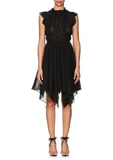 Ulla Johnson Women's Jules Swiss Dot Silk-Cotton Asymmetric Dress