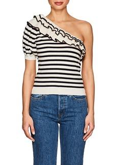 Ulla Johnson Women's Laila Striped Cotton-Cashmere Top