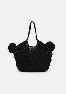 Ulla Johnson Women's Lalo Mini Straw Tote Bag - Black