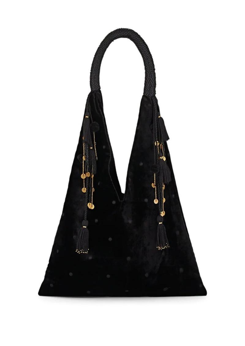 7d11d0619aa Ulla Johnson Ulla Johnson Women s Lalo Velvet Tote Bag - Black ...