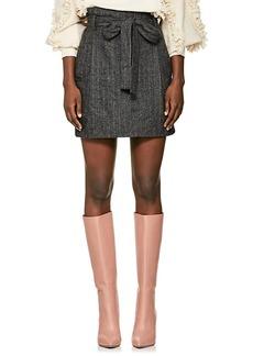 Ulla Johnson Women's Leo Wool-Blend Belted Skirt