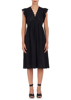 Ulla Johnson Women's Louise Cotton-Linen Eyelet Dress
