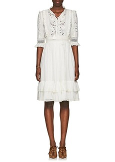 Ulla Johnson Women's Madison Embroidered Cotton Voile Dress