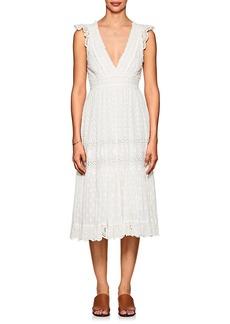Ulla Johnson Women's Marjorie Cotton Eyelet Midi-Dress