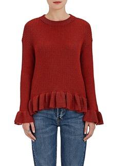 Ulla Johnson Women's Nadine Baby-Alpaca-Silk Ruffle Sweater
